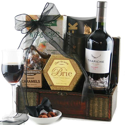 Dressed to Impress Malbec Red Wine Gift Basket