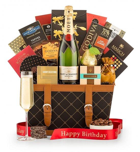 Happy Birthday Wishes Champagne Gift Basket