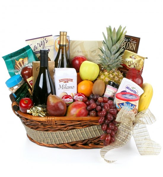 Wine, Cheese & Fruit Gift