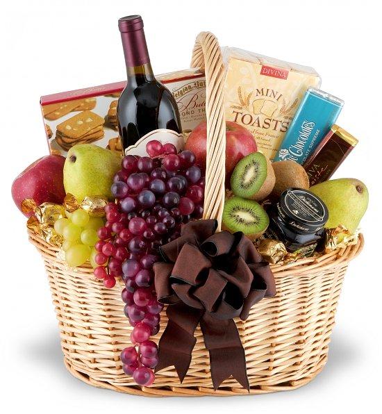 Wine Fruit Gift Basket