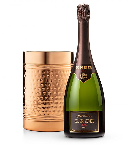 Krug-Champagne-with-Brass-Wine-Chiller