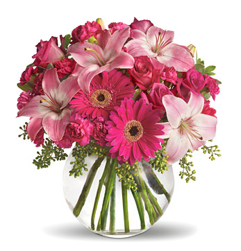 Pink Floral Bouquet in a Vase