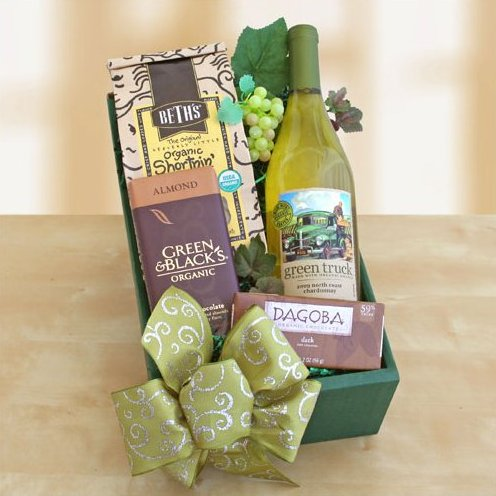 Organic Green Truck Wine Gift Box