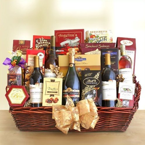 Magnificence 5 Bottle Wine Basket