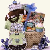 Baby's 1st Birthday Big Bash Baby Boys Gift Basket