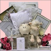 Blessed Baby Christening Baby Girls Gift Basket ~ Deluxe Edition