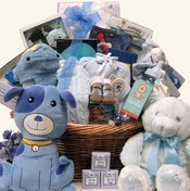 Baby's Biggest Welcome Baby Boys Deluxe Gift Basket
