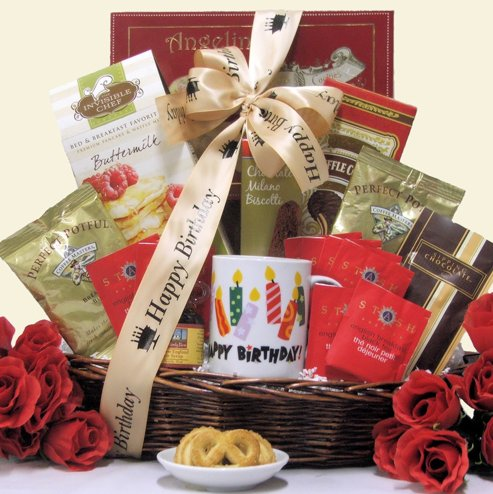 Birthday Breakfast Surprises Happy Gift Basket