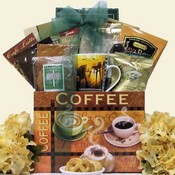 Just Java Gourmet Coffee Gift Basket ~ Medium Size