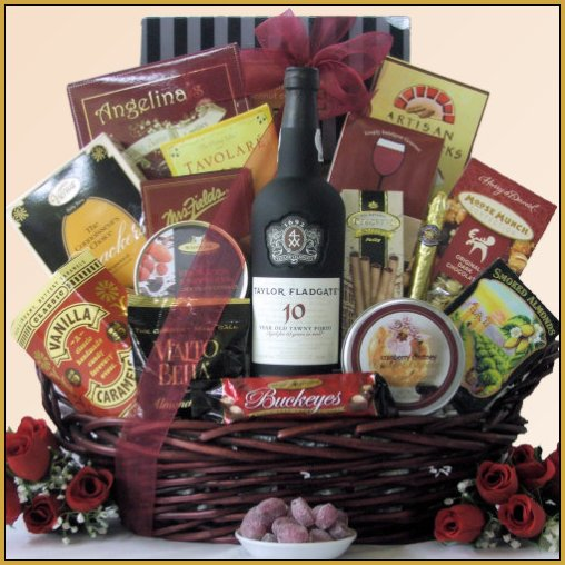 Featuring Port Wine Gift Basket - Taylor Fladgate Port