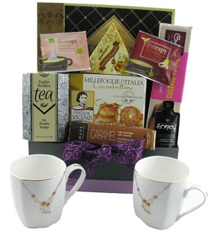 Tea Anyone? Gourmet Tea Cup & Teapot Gift Basket