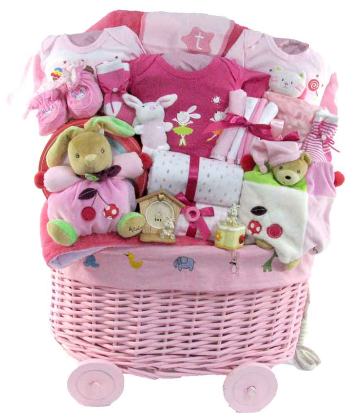 Baby Gift Baskets Canada : Her first of everything kaloo toy basket baby girls gift
