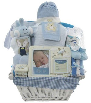 Keepsakes for Baby Boy Gift Basket