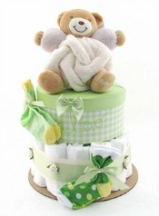 Kaloo Neutral Teddy Diaper Cake