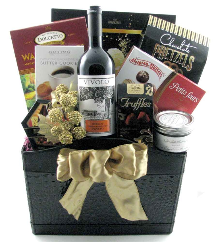 The Corporate Clinch Wine & Gourmet Gift Basket