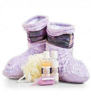 Lavender Spa Booties & Treatments Gift