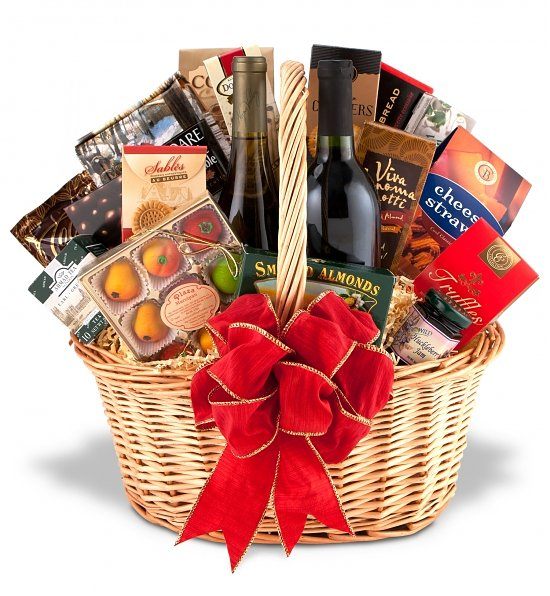 Fine Red Wines & Gourmet Gift Basket