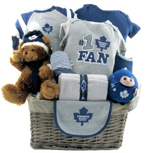 Toronto Maple Leafs Hockey Basket ~ DELUXE