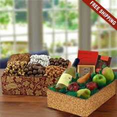 Wine & Fruit Picnic Gift Box