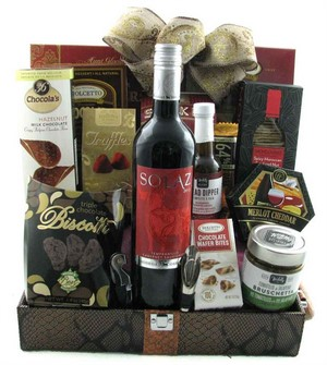 1 Bottle Wine Baskets Canada