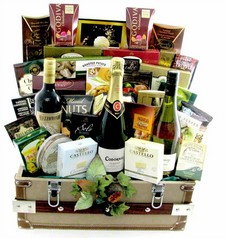 3 Bottles Wine Gift Baskets Canada