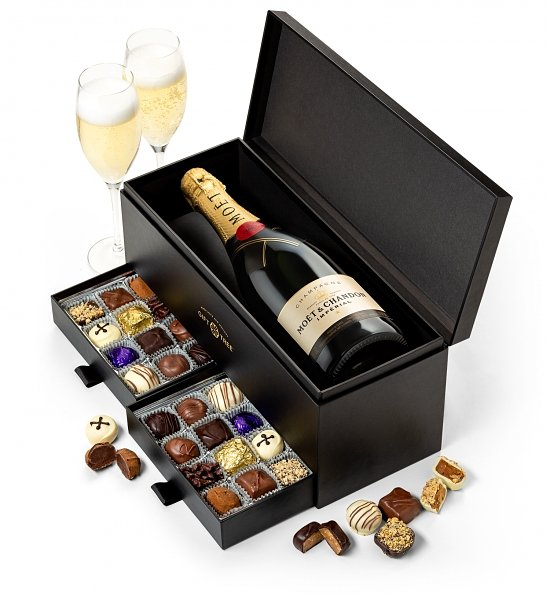 Moet et Chandon and Chocolate Truffles Gift Box Set